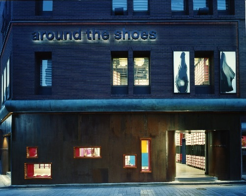 around the shoes