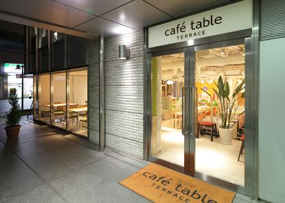Cafe  table  terrace