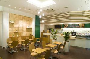 エコ素材でつくった100%ジュースとオーガニックコーヒーの店 ジュースカフェの内装?外観画像