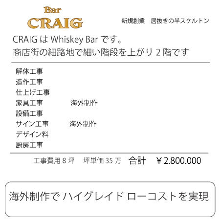WhiskeyBar CRAIG - SUNSHOW -